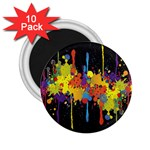 Crazy Multicolored Double Running Splashes Horizon 2.25  Magnets (10 pack)  Front