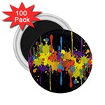 Crazy Multicolored Double Running Splashes Horizon 2.25  Magnets (100 pack)  Front