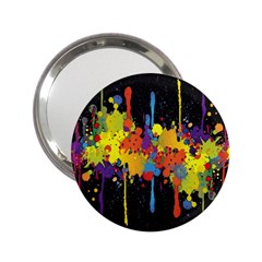 Crazy Multicolored Double Running Splashes Horizon 2 25  Handbag Mirrors