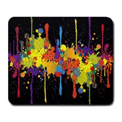 Crazy Multicolored Double Running Splashes Horizon Large Mousepads