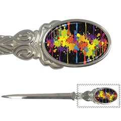 Crazy Multicolored Double Running Splashes Horizon Letter Openers