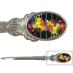 Crazy Multicolored Double Running Splashes Horizon Letter Openers Front