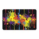 Crazy Multicolored Double Running Splashes Horizon Magnet (Rectangular) Front