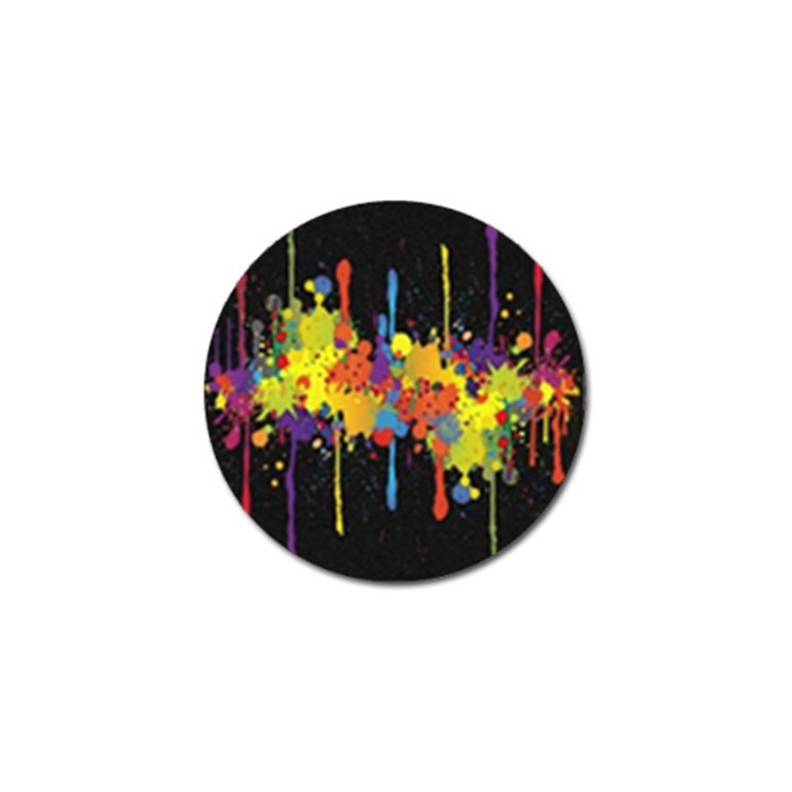 Crazy Multicolored Double Running Splashes Horizon Golf Ball Marker (10 pack)