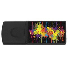 Crazy Multicolored Double Running Splashes Horizon USB Flash Drive Rectangular (2 GB)