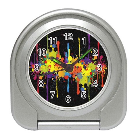 Crazy Multicolored Double Running Splashes Horizon Travel Alarm Clocks