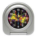 Crazy Multicolored Double Running Splashes Horizon Travel Alarm Clocks Front