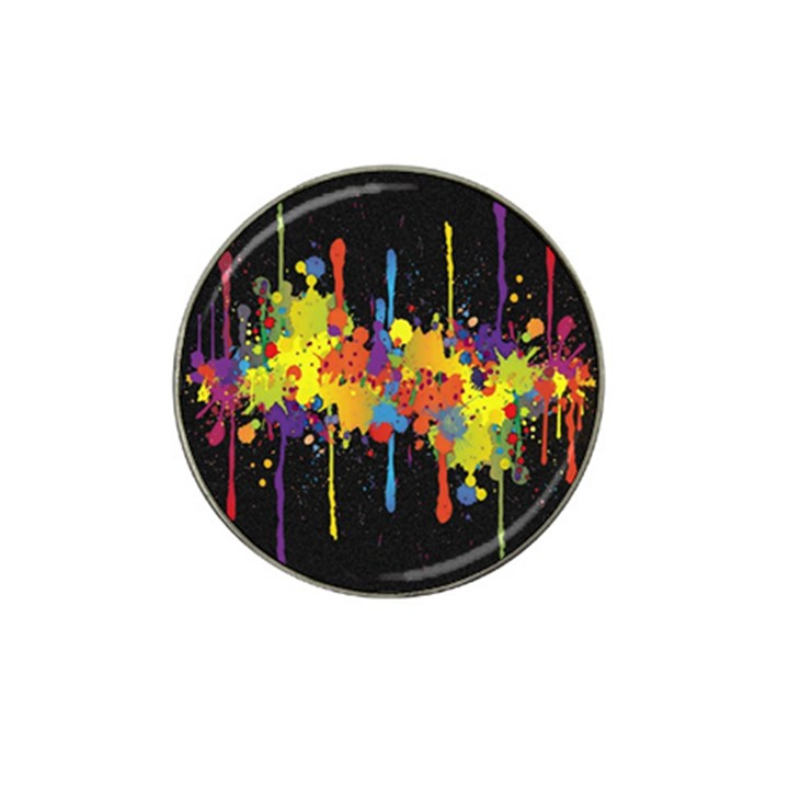 Crazy Multicolored Double Running Splashes Horizon Hat Clip Ball Marker (10 pack)