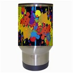 Crazy Multicolored Double Running Splashes Horizon Travel Mugs (White) Center