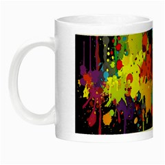 Crazy Multicolored Double Running Splashes Horizon Night Luminous Mugs