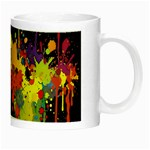 Crazy Multicolored Double Running Splashes Horizon Night Luminous Mugs Right