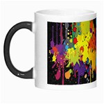 Crazy Multicolored Double Running Splashes Horizon Morph Mugs Left