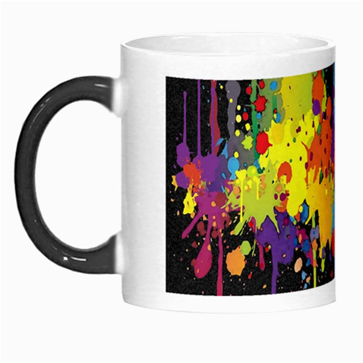Crazy Multicolored Double Running Splashes Horizon Morph Mugs