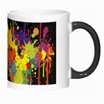 Crazy Multicolored Double Running Splashes Horizon Morph Mugs Right