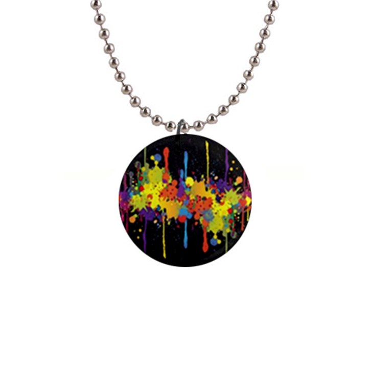Crazy Multicolored Double Running Splashes Horizon Button Necklaces