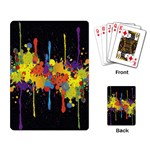 Crazy Multicolored Double Running Splashes Horizon Playing Card Back