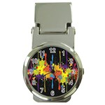 Crazy Multicolored Double Running Splashes Horizon Money Clip Watches Front