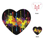 Crazy Multicolored Double Running Splashes Horizon Playing Cards (Heart)  Front