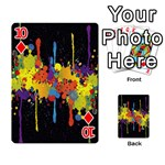 Crazy Multicolored Double Running Splashes Horizon Playing Cards 54 Designs  Front - Diamond10
