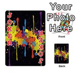 Crazy Multicolored Double Running Splashes Horizon Playing Cards 54 Designs  Front - Joker2