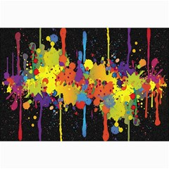 Crazy Multicolored Double Running Splashes Horizon Collage Prints