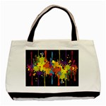 Crazy Multicolored Double Running Splashes Horizon Basic Tote Bag Front