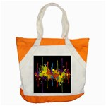Crazy Multicolored Double Running Splashes Horizon Accent Tote Bag Front