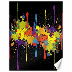 Crazy Multicolored Double Running Splashes Horizon Canvas 12  x 16