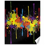 Crazy Multicolored Double Running Splashes Horizon Canvas 16  x 20   20 x16 Canvas - 1