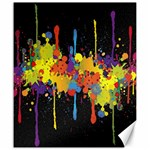 Crazy Multicolored Double Running Splashes Horizon Canvas 20  x 24   24 x20 Canvas - 1