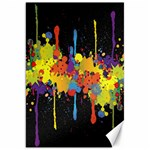 Crazy Multicolored Double Running Splashes Horizon Canvas 20  x 30   30 x20 Canvas - 1