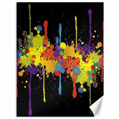 Crazy Multicolored Double Running Splashes Horizon Canvas 36  x 48