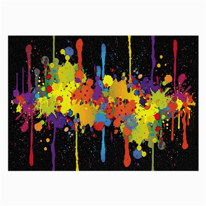 Crazy Multicolored Double Running Splashes Horizon Large Glasses Cloth (2-Side)