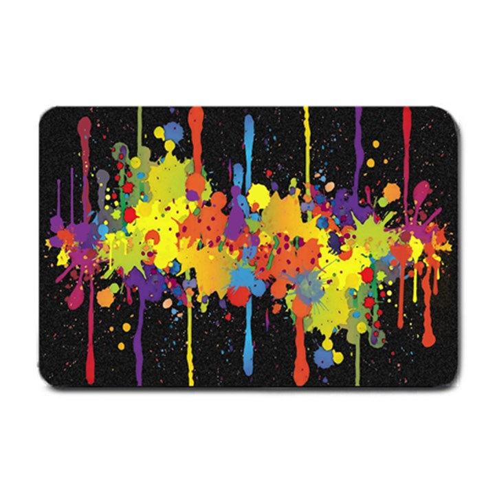 Crazy Multicolored Double Running Splashes Horizon Small Doormat