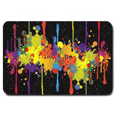 Crazy Multicolored Double Running Splashes Horizon Large Doormat