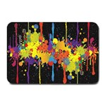 Crazy Multicolored Double Running Splashes Horizon Plate Mats 18 x12 Plate Mat - 1