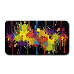 Crazy Multicolored Double Running Splashes Horizon Medium Bar Mats 16 x8.5 Bar Mat - 1