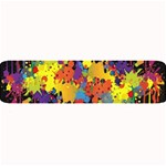 Crazy Multicolored Double Running Splashes Horizon Large Bar Mats 34 x9.03 Bar Mat - 1