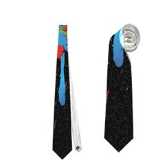 Crazy Multicolored Double Running Splashes Horizon Neckties (Two Side)