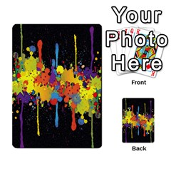 Crazy Multicolored Double Running Splashes Horizon Multi Purpose Cards (rectangle)