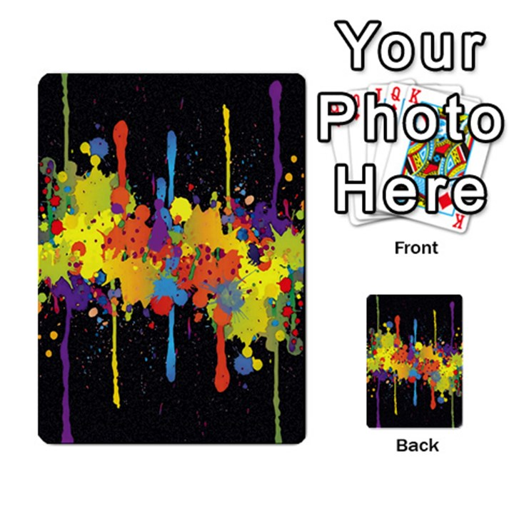 Crazy Multicolored Double Running Splashes Horizon Multi-purpose Cards (Rectangle)