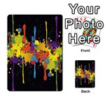 Crazy Multicolored Double Running Splashes Horizon Multi-purpose Cards (Rectangle)  Front 3