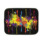 Crazy Multicolored Double Running Splashes Horizon Netbook Case (Small)  Front