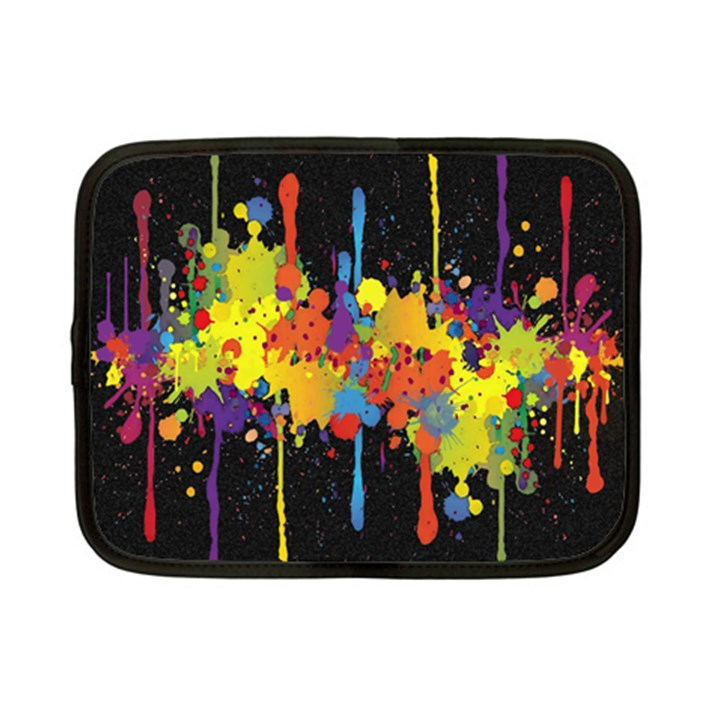 Crazy Multicolored Double Running Splashes Horizon Netbook Case (Small)