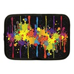 Crazy Multicolored Double Running Splashes Horizon Netbook Case (Medium)  Front