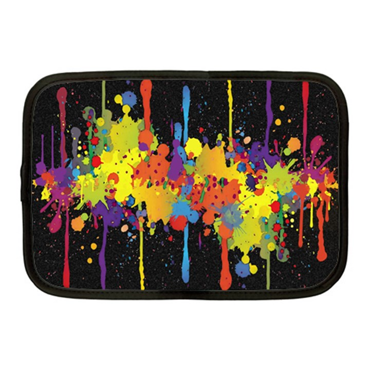 Crazy Multicolored Double Running Splashes Horizon Netbook Case (Medium)