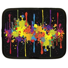 Crazy Multicolored Double Running Splashes Horizon Netbook Case (large)