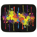 Crazy Multicolored Double Running Splashes Horizon Netbook Case (Large) Front