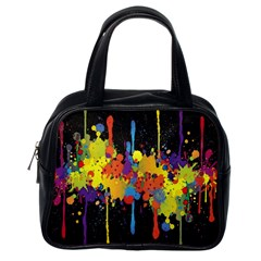 Crazy Multicolored Double Running Splashes Horizon Classic Handbags (One Side)