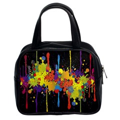 Crazy Multicolored Double Running Splashes Horizon Classic Handbags (2 Sides)